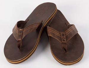 Mens Al Leather Flip Flops