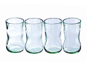 Coca-Cola Bottle Glasses 4Pk